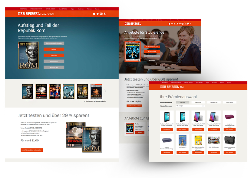 Webseite Spiegel Geschichte